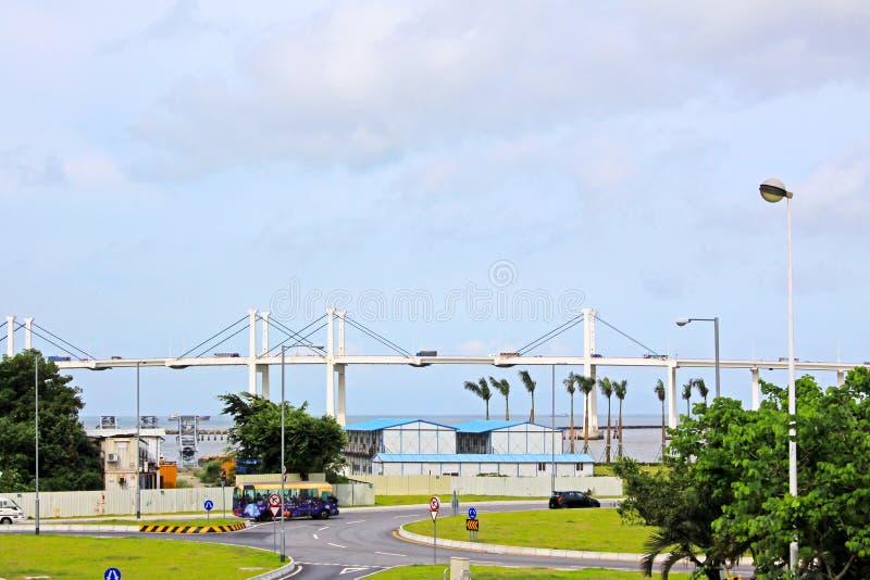 Amizade Bridge, Macau, China royalty free stock photos