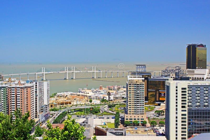 Amizade Bridge, Macau, China royalty free stock image