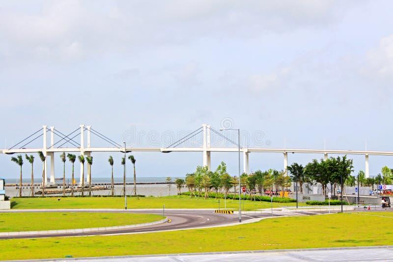 Amizade Bridge, Macau, China stock photo