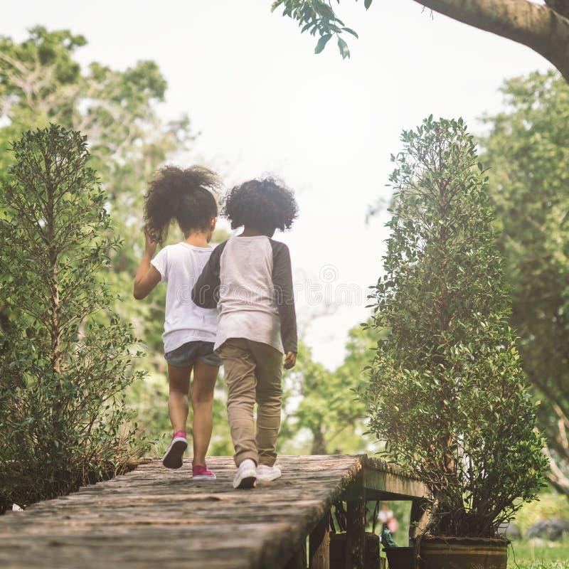 Amizade das crianças fotografia de stock
