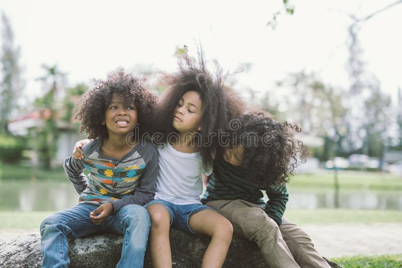 Amizade das crianças imagem de stock royalty free