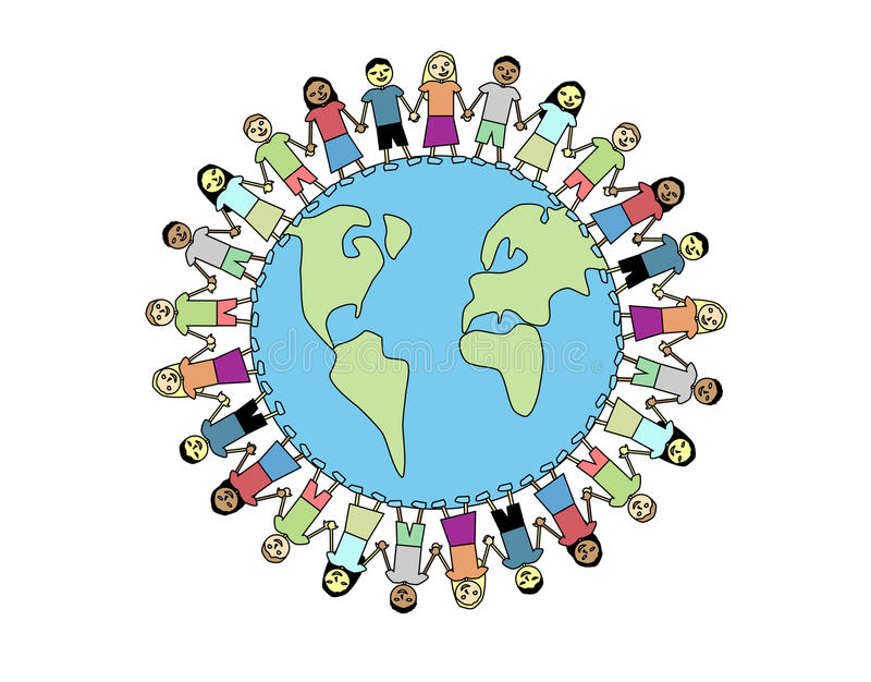 Amizade global ilustração royalty free