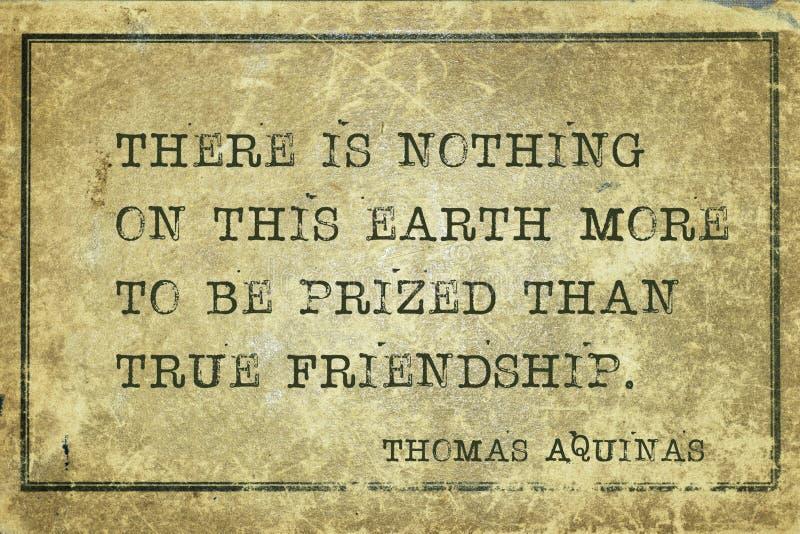 Amizade verdadeira Aquinas ilustração stock