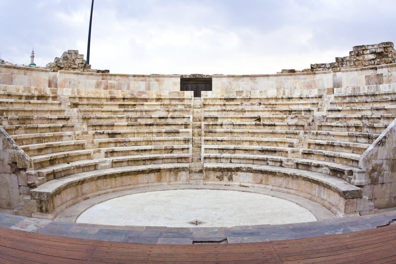 Amman amfitheater - Jordanië stock foto's