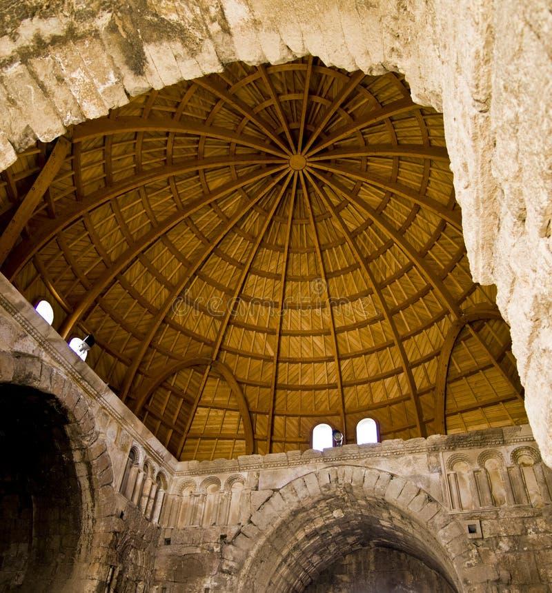 Amman Citadel, Jordan, Al-Qasr stock image