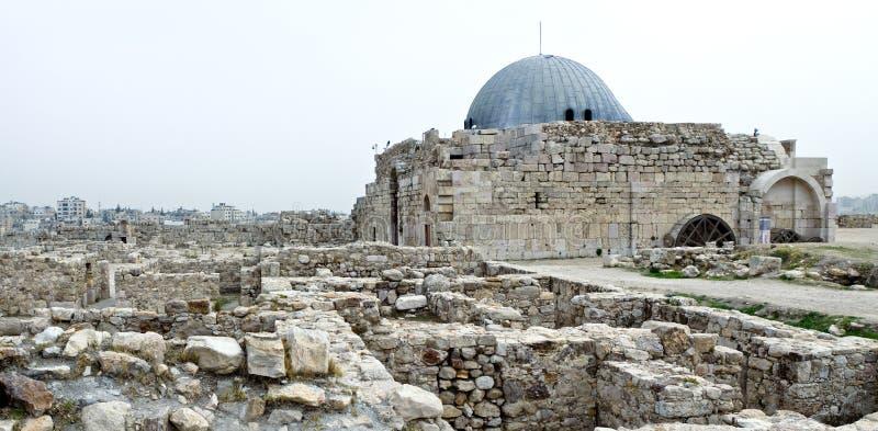 Amman citadel Jordanië, al-Qasr royalty-vrije stock foto