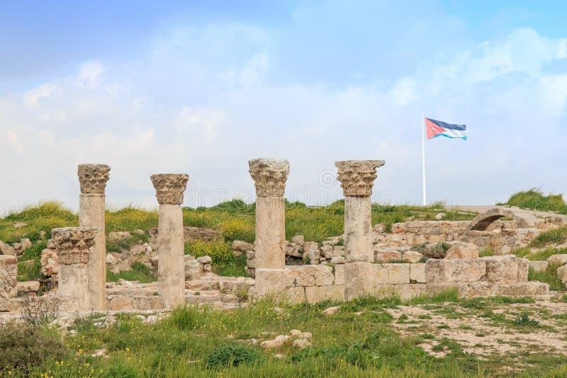 Amman cytadeli ruiny w Jordania obrazy royalty free