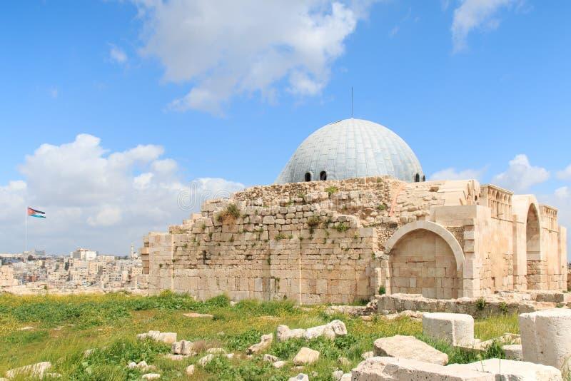 Amman cytadeli ruiny w Jordania fotografia royalty free