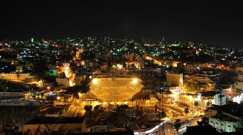 Amman em a noite imagens de stock royalty free