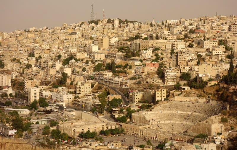 Amman gammal stad arkivbild