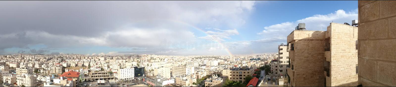 Amman hemelpanorama stock foto's