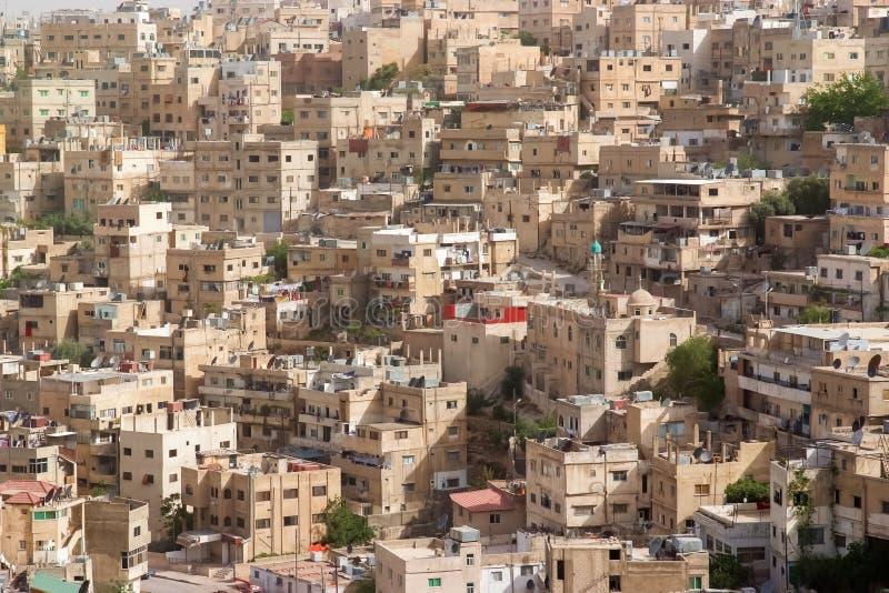 Amman, Jordan. Aerial view at Amman, Jordan royalty free stock photography