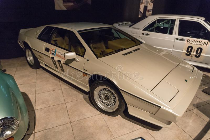 Lotus Esprit Turbo H.C. 1987 at the exhibition in the King Abdullah II car museum in Amman, the capital of Jordan royalty free stock images