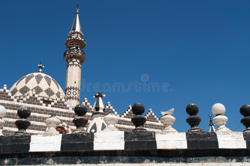 Amman, Jordan, Middle East, skyline, mosque, Abu Darwish Mosque, islam, religion, place of worship. Jordan, 01/10/2013, details of Abu Darwish Mosque, built in royalty free stock image