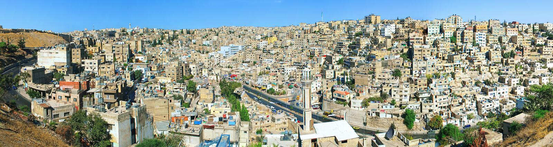 amman jordan panorama royaltyfria bilder