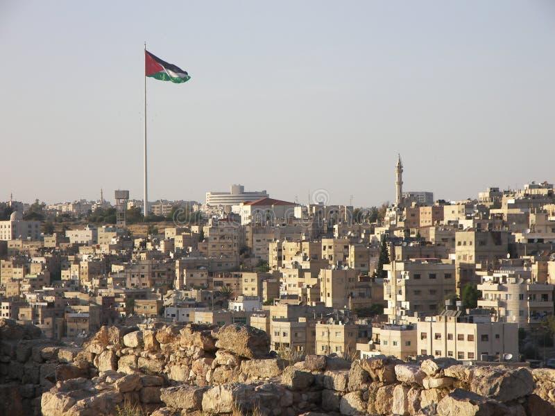 amman jordan panorama royaltyfri foto