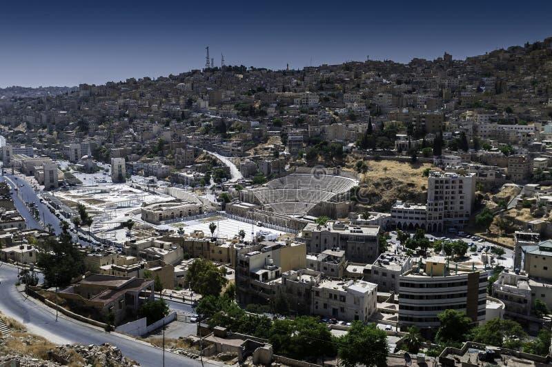 Amman Jordan. Panorama of city Amman in Jordan royalty free stock photo