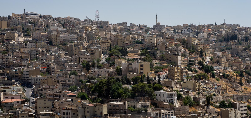 Amman, Jordan. The view of the city. Amman, Jordan. The view of the city royalty free stock photos