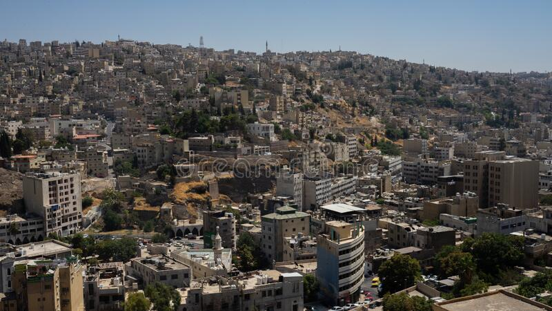 Amman, Jordan. The view of the city. Amman, Jordan. The view of the city royalty free stock images