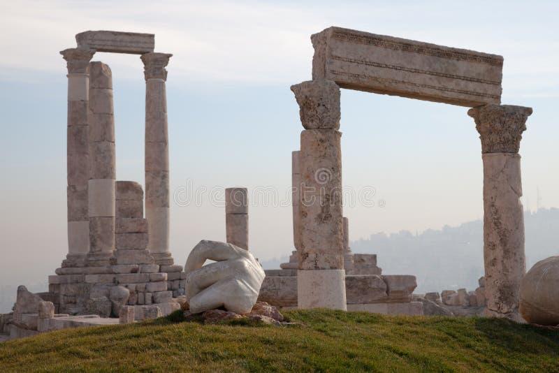 Amman, Jordanië de citadel royalty-vrije stock foto