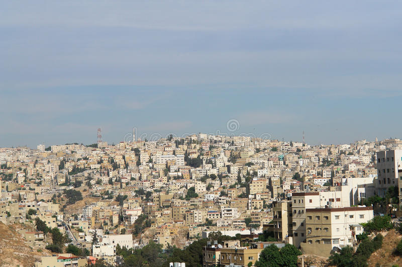 Amman, Jordanien - Stadtbild lizenzfreies stockfoto