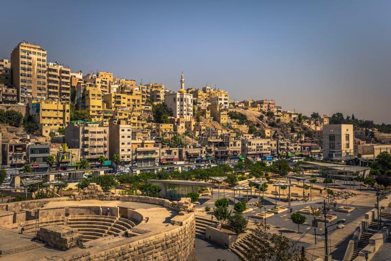 Amman - September 29, 2018: View from the Roman Amphitheater in the center of Amman, Jordan stock photo