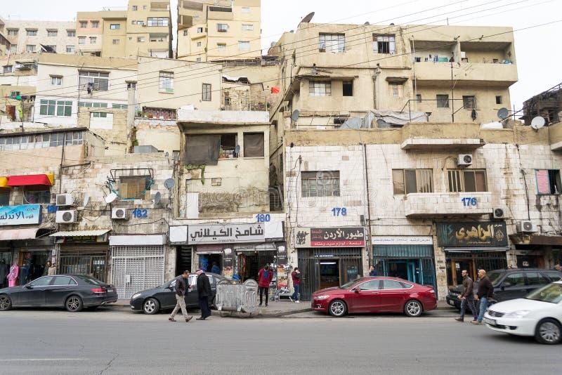 Amman van de binnenstad, Jordanië royalty-vrije stock afbeelding
