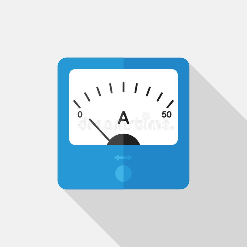 Ammeter Vector Element stock image