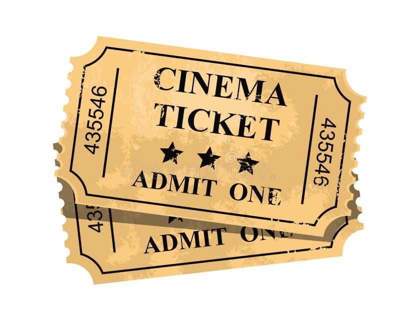 Ammetta un biglietto illustrazione di stock