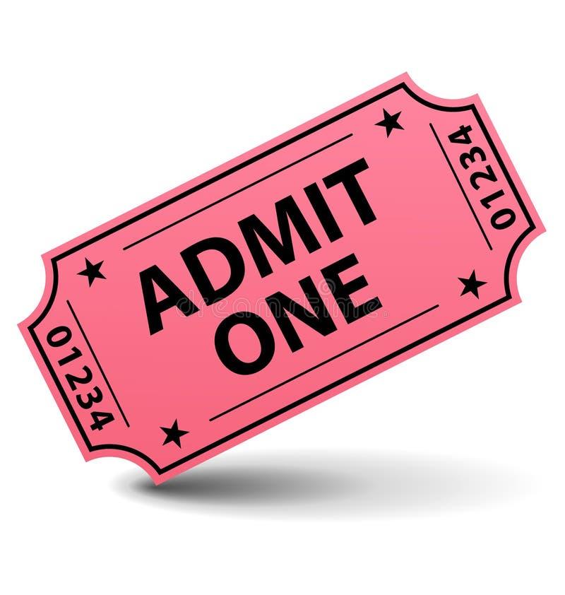 Ammetta un biglietto royalty illustrazione gratis