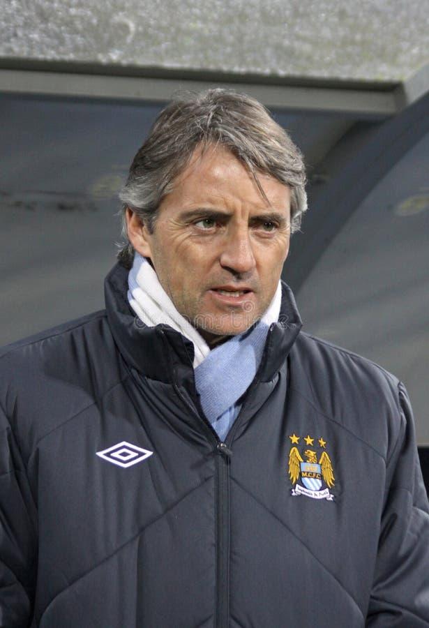 Amministratore municipale Roberto Mancini di FC Manchester immagini stock libere da diritti