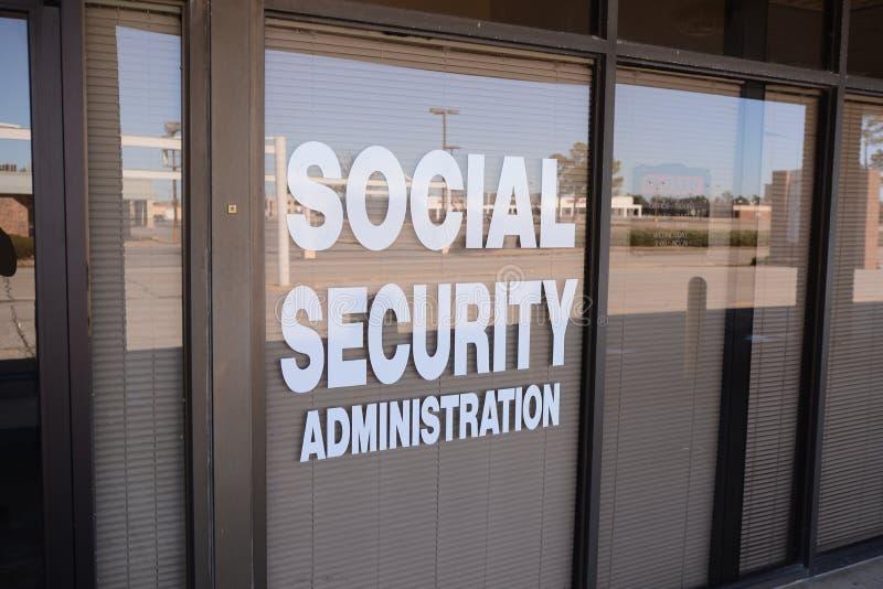Amministrazione di sicurezza sociale fotografia stock
