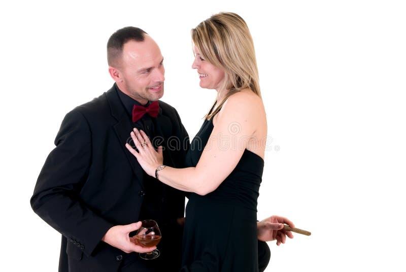 Ammiratore maschio della donna e del gigolo fotografia stock libera da diritti