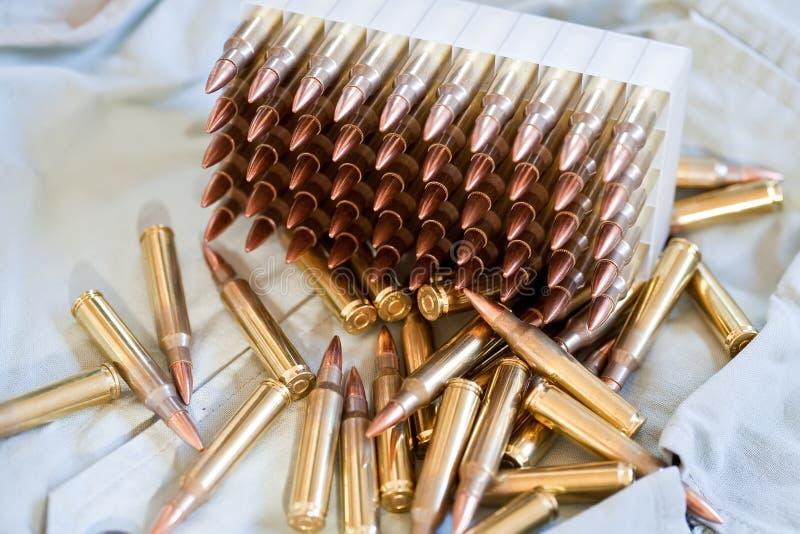 Ammo. Box of .223 caliber ammo stock images