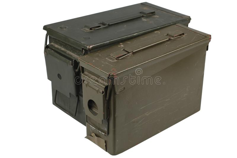 Ammo Can. Isolated on white stock images