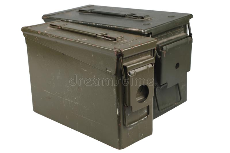 Ammo Can. Isolated on white royalty free stock image