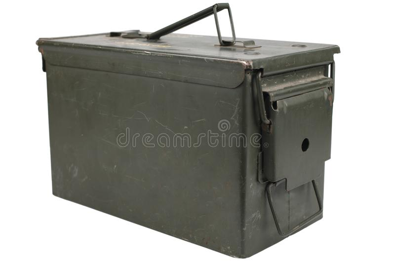 Ammo Can. Isolated on white background royalty free stock images