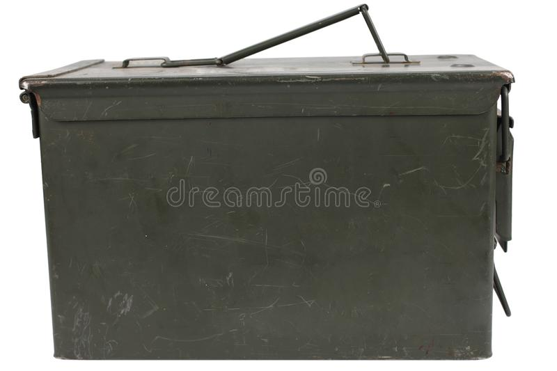 Ammo Can. Isolated on white background royalty free stock photo
