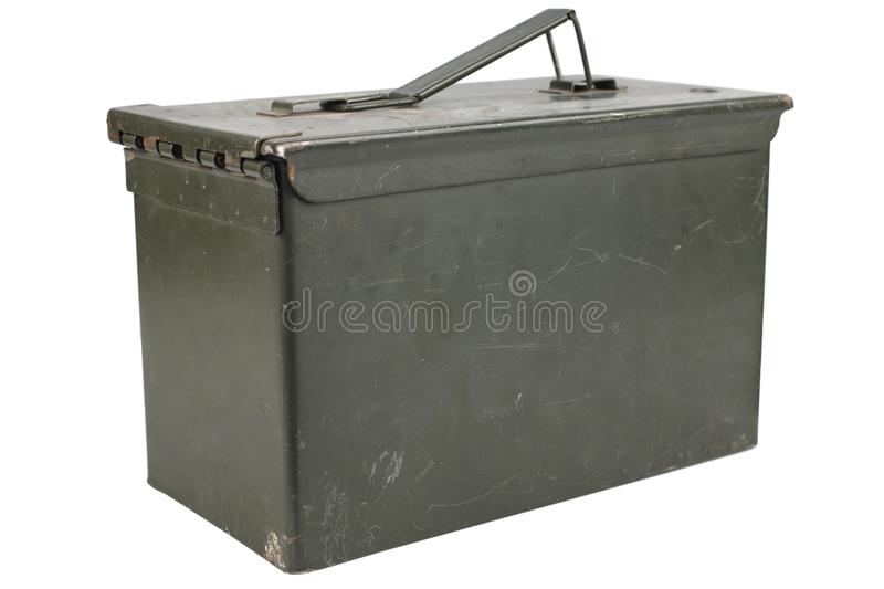 Ammo Can. Isolated on white background royalty free stock photography