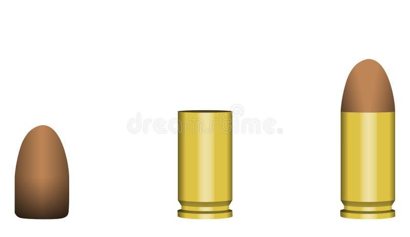 Ammo9mm royalty-vrije illustratie
