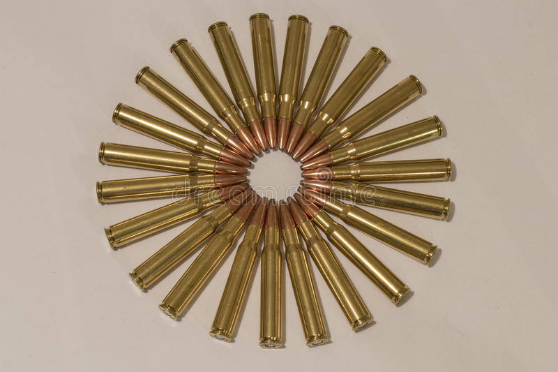 Ammocirkel från överkant royaltyfri fotografi