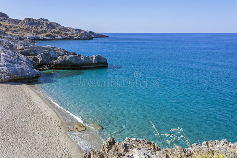 Ammoudi beach, south Crete royalty free stock photography