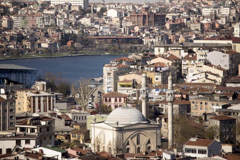 Ammucchiatura urbana a Costantinopoli fotografia stock