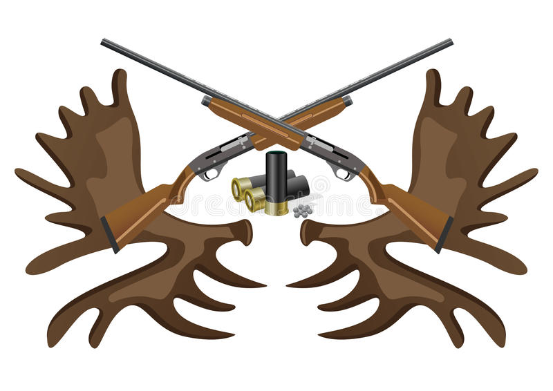 Ammunition, Guns And Horns. Stock Image