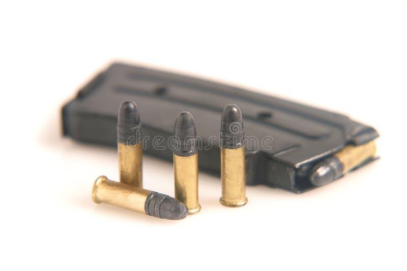 Ammunition and magazine royalty free stock photo