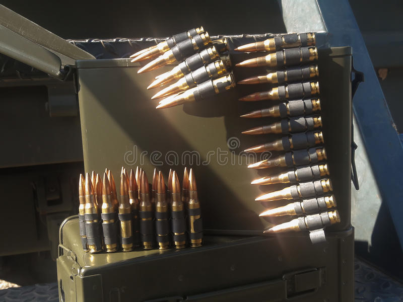 It is ammunition. stock image