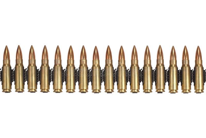 Ammunitionbälte arkivbild