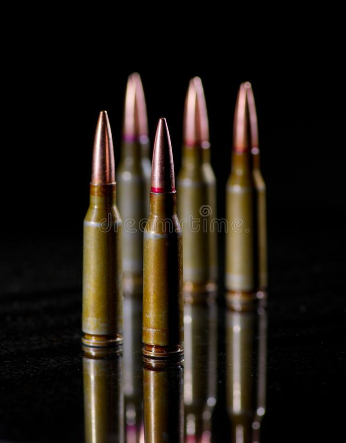 Ammunitionkassetter royaltyfri bild