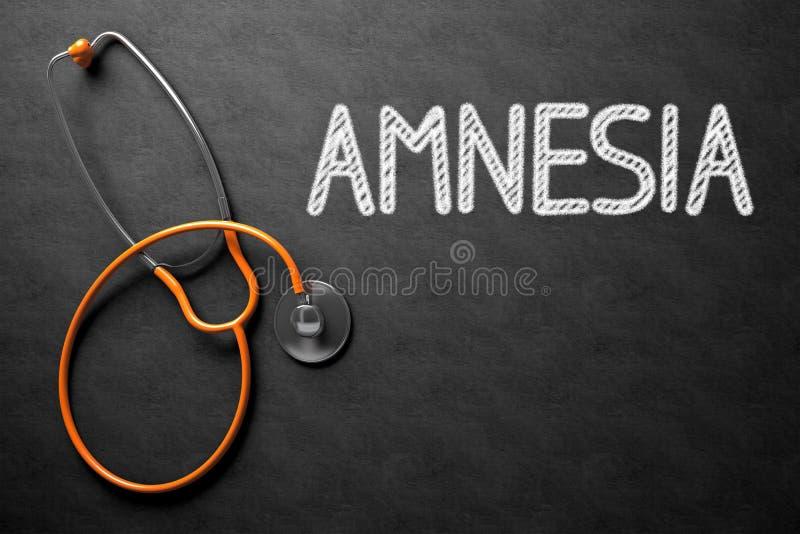 Amnésia - texto no quadro ilustração 3D fotos de stock royalty free