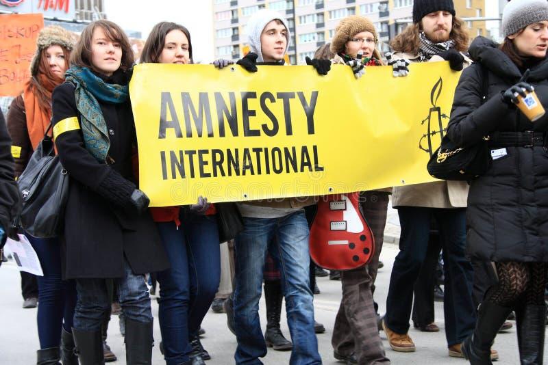 Amnesty International photographie stock libre de droits